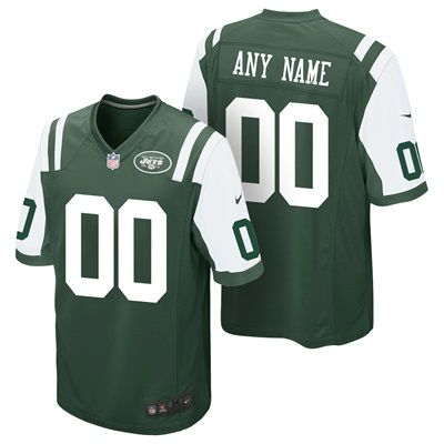 New York Jets Home Game Jersey - Custom - Youth: Represent your name, nickname, or your favorite player on the roster by sporting the Nike…
