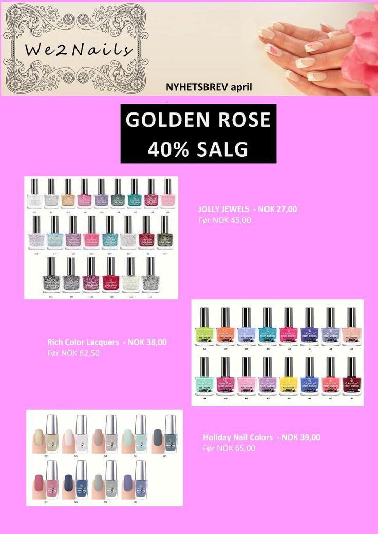 Tilbud Golden Rose Neglelakk