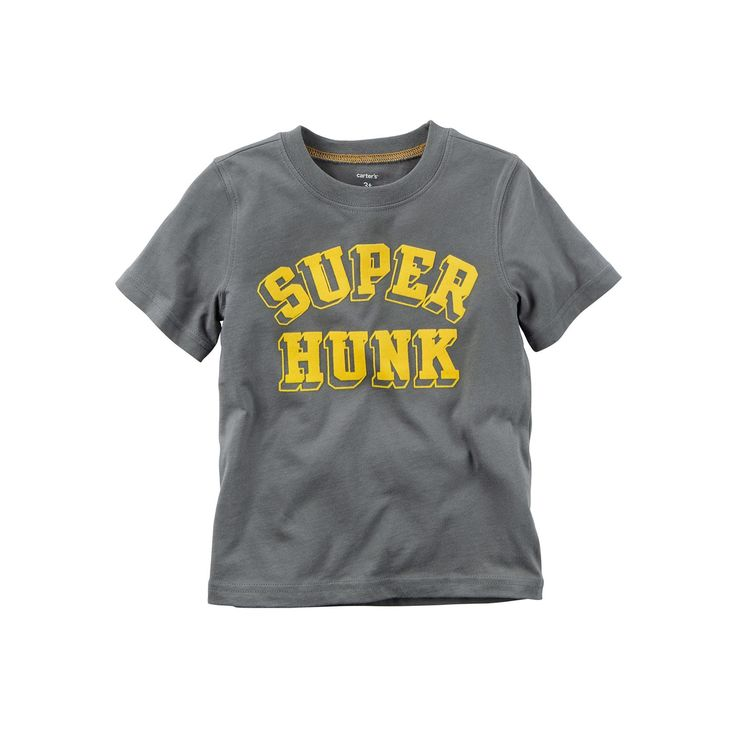 Baby Boy Carter's Short Sleeve Graphic Tee, Size: 18 Months, Grey