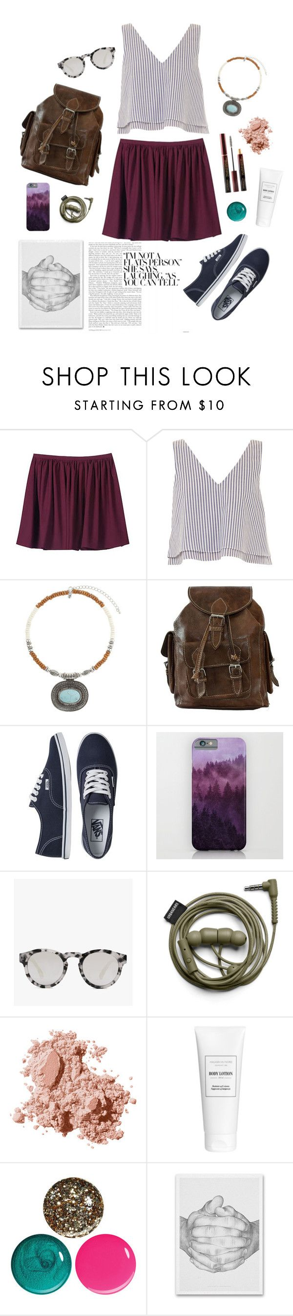 """""""Multilove"""" by lila-pauser ❤ liked on Polyvore featuring Contrarian, Apiece Apart, Miss Selfridge, Vans, Illesteva, Bobbi Brown Cosmetics and Urban Decay"""