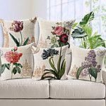 Algodón/Lino Cobertor de Cojín , Floral Moderno/Contemporáneo 2017 - $743.91