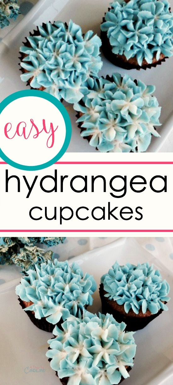 How to make hydrangea cupcakes :  Today I am showing you how to make Hydrangea cupcakes that look like real flowers.  It's way easier than you think.