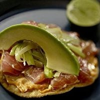 Tuna tostadas with chipotle mayonnaise by Bill Cube