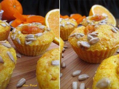 Тыквенно-апельсиновые кексы с курагой и семечками
