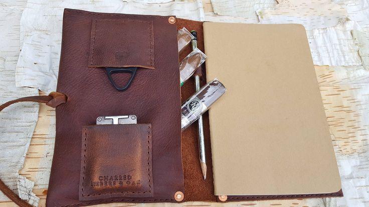 Medium Leather Cigar Case w/ Field Notes Book