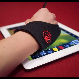 The Hand Glider glove allows you to finally rest your hand on your tablet. 1 and 2 finger versions available at www.thehandglider.com