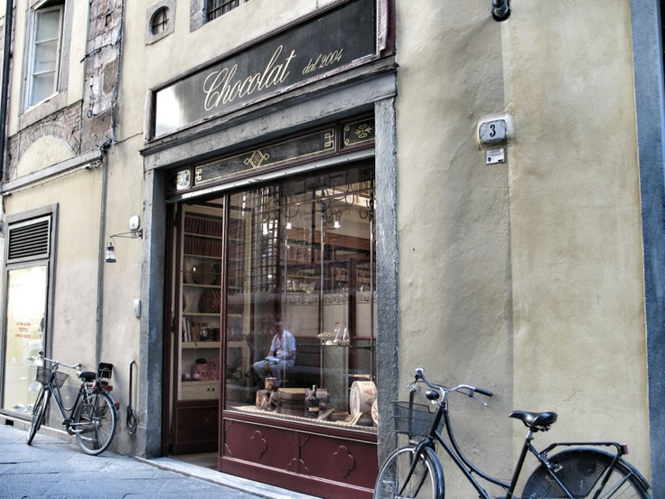 Chocolate shop in Lucca, Tuscany
