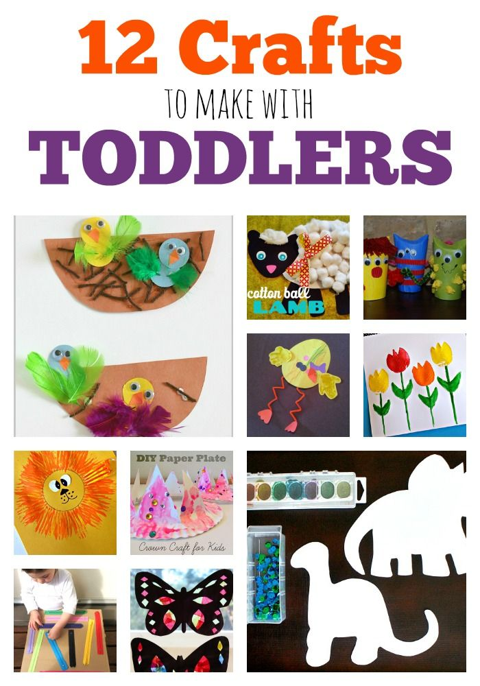 12 super fun crafts that your toddlers will love!