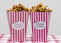 Karamelliserade popcorn.  Caramel popcorn.