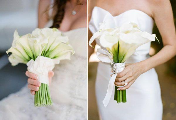 Un bouquet d'arums pour mon mariage - J'ai dit oui