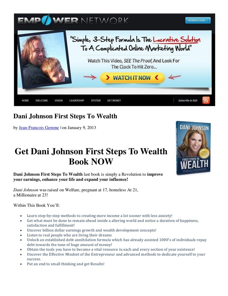 dani-johnson-first-steps-to-wealth by Jean-Francois Gemme via Slideshare