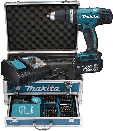 Makita DHP453RFX2 Perforateur burineur SDS Plus avec coffret Makpac/2 batteries 18 V 3Ah