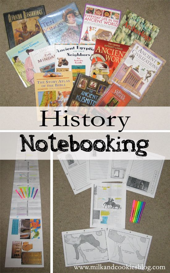History Notebooking---Lesson planning and organizing lists of living books for history