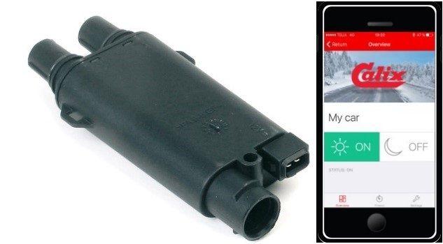 Časovač mobilního zařízení umožňuje nastavit čas spuštění předehřevu motoru a ovládat ho na dálku pomocí aplikace.