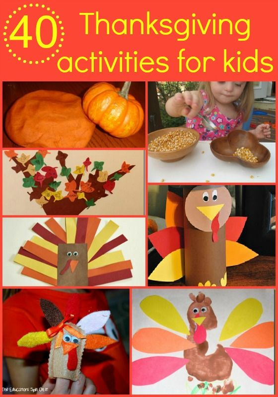 40 Thanksgiving activities for kids