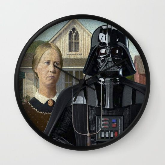 """Take Grant Wood's most famous painting, """"American Gothic"""". Just a farmer posing with wife, while holding a pitchfork. Replace Darth Vader with this man and you get a perfect pop mashup. Does it make any sense? Not at all. Does it strike something in you? It does. Then, here is another entry of the serie """"Darth Vader Everywhere""""."""
