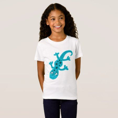 Blue Lizard Gecko Clip Art Illustration T-Shirt - tap, personalize, buy right now!