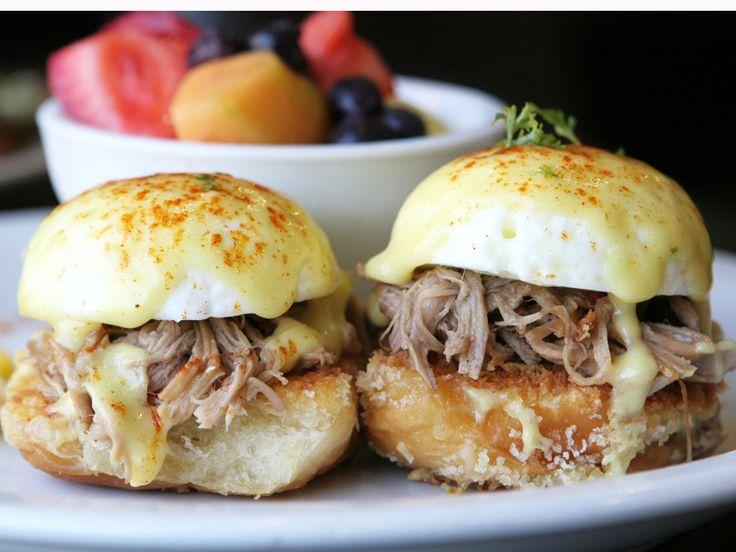 Sweet and tender pork on fluffy KING'S HAWAIIAN Original Hawaiian Sweet Dinner Rolls. You've never seen a Benedict like this.