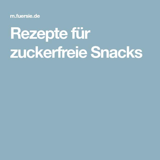 Rezepte für zuckerfreie Snacks