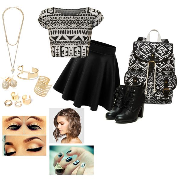 aztec printed outfit by bunnykayes on Polyvore featuring polyvore fashion style WearAll SM New York Givenchy Loushelou Sole Society