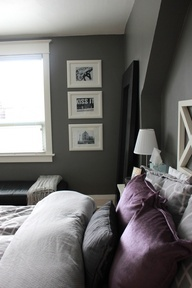 Grey Walls Purple Accents New House Pinterest Grey Walls Bonus Rooms And Front Rooms