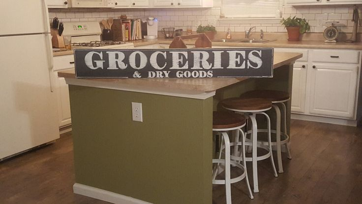 Grocery Sign,Groceries, Wood Sign,Hand Painted Sign,Farmhouse Sign,Rustic Sign,Distressed Sign,Kitchen SIgn,Kitchen Decor, Pantry Decor by RagdollAnnies on Etsy