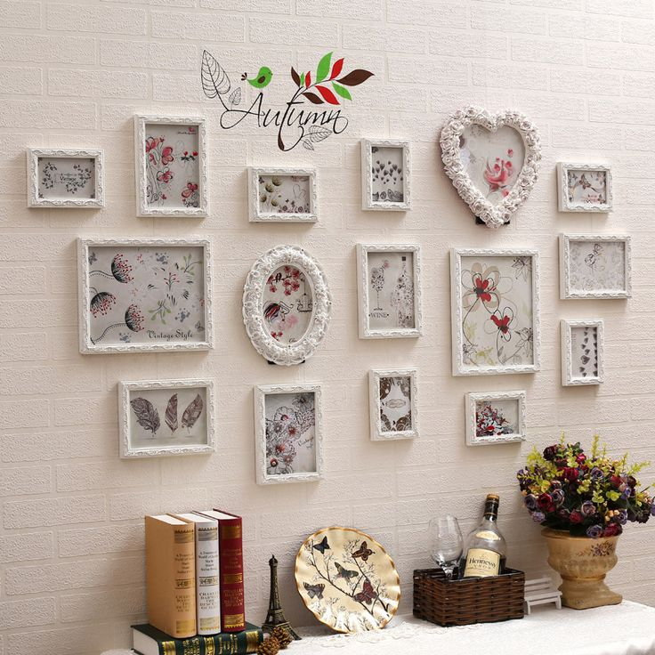 Find More Frame Information about New 13/16pcs Baroque Romantic Wall Photo Frame Sets Decorative Engraving Picture Resin Solid Wood For Wedding Decoration Sale,High Quality wood sofa frame,China wood calender Suppliers, Cheap wood 45 from Handicraftsman on Aliexpress.com
