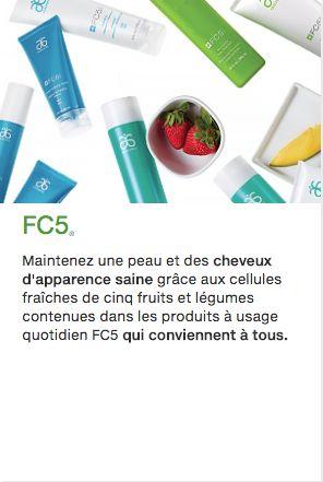 Gardez une peau et des cheveux sains grâce aux cellules fraîches de cinq fruits et légumes que l'on trouve dans les essentiels au quotidien FC5 conçus pour tous.