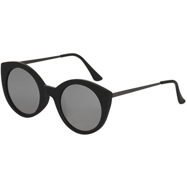 TopShop Cactus Preppy Cateye Sunglasses (€21) ❤ liked on Polyvore featuring accessories, eyewear, sunglasses, black, mirror sunglasses, cat-eye glasses, lens glasses, mirrored cat eye sunglasses and topshop sunglasses