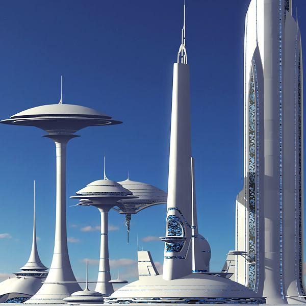 Futuristic Sci Fi Buildings 3d Max Futuristic Architecture Sci Fi Concept Art Futuristic City