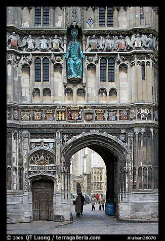 Christ Church Gate (Cathedral precincts main entrance). Canterbury, Kent, Englan