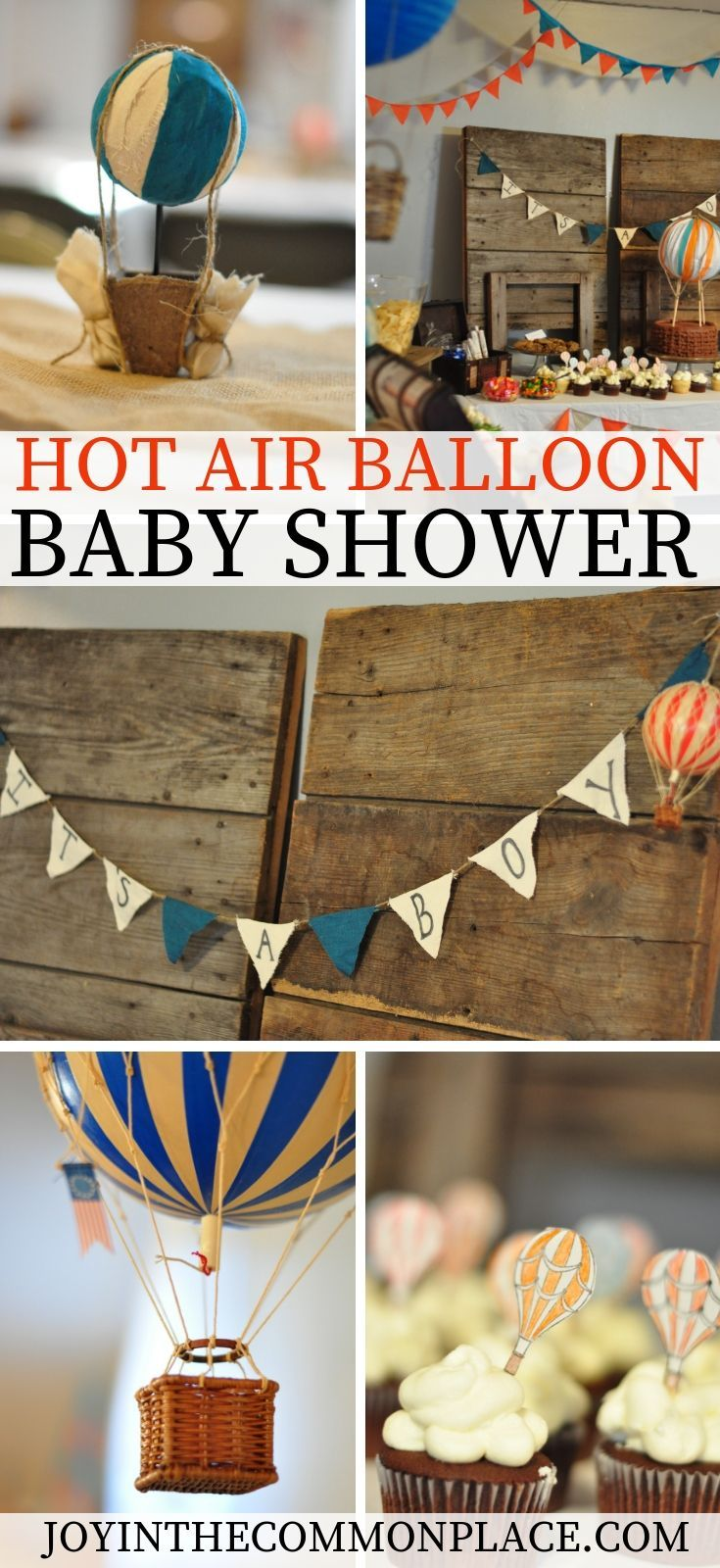 Throw A Vintage Hot Air Balloon Baby Shower Baby Shower
