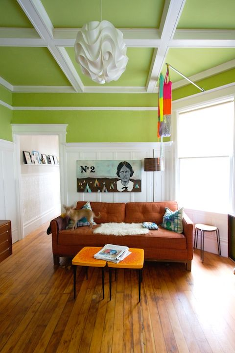 GREEN CEILING #paint #ceiling #green