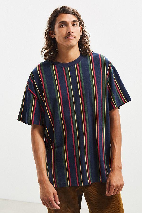 bc4bdf6115 UO Dillon Vertical Stripe Tee | men's apparel | Vertical striped ...