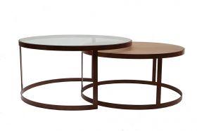 Jens Lyngsøe Interieur - Sofabord (indskudsborde) fås i mange farver og med glas eller træplader