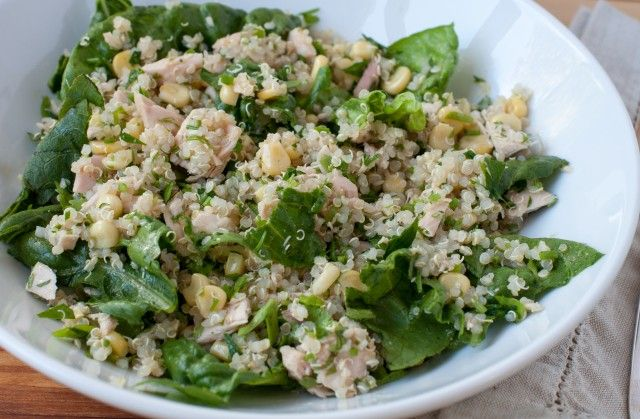 quinoa, tuna and corn salad - Marin Mama Cooks