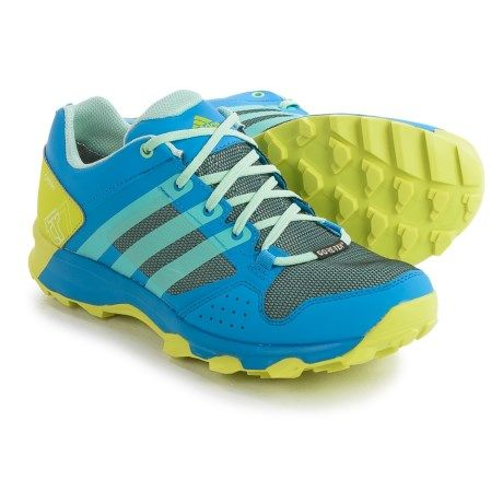 adidas outdoor Kanadia 7 Gore-Tex® Trail Running Shoes - Waterproof (For Women) in Ray Blue/Ice Green/Shock Slime