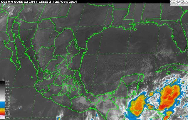 Baja presión en el Océano Pacífico con potencial ciclónico - http://notimundo.com.mx/estados/baja-presion-en-el-oceano-pacifico-con-potencial-ciclonico/20626