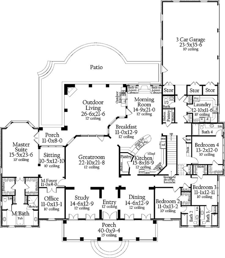 I Like The Foyer Study Open Concept Great Room And Kitchen: 17 Best Ideas About Basement Floor Plans On Pinterest