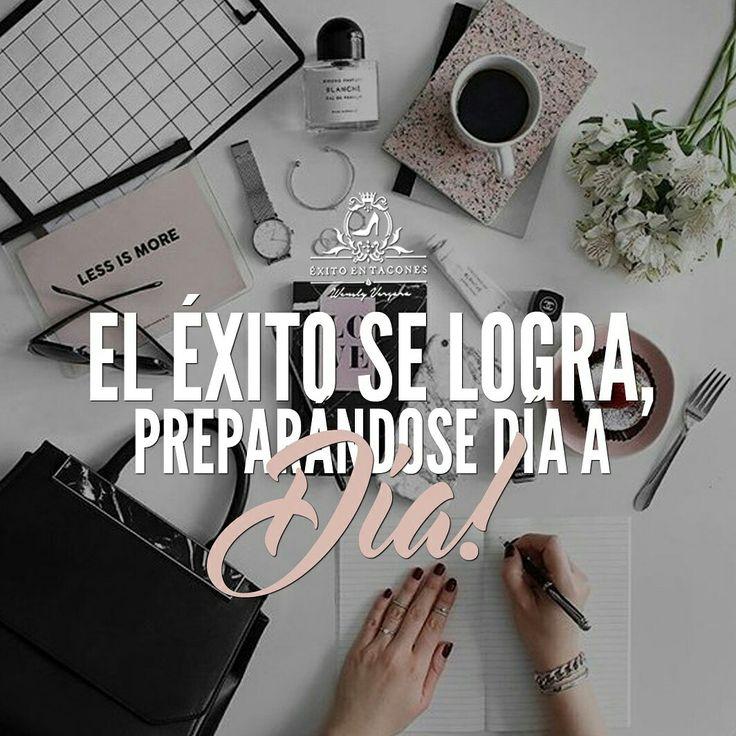 """Le dicen """"suerte"""" pero en realidad la inspiración y motivación nos hacen las cosas MENOS DIFÍCILES; sin embargo, la PREPARACIÓN, DISCIPLINA y CONSTANCIA nos ayudan a lograr ese ÉXITO que tanto deseamos!!!   -WV-  Síguenos por Instagram @exitoentaconeswv   #exitoentacones #frase #motivacion #dequeestashecha #noterindas #sigueadelante #progreso #pasoapaso #deexitoenexito #enfocada #vision #construyendounImperio #vecontodo #yportodo #sinlimites"""