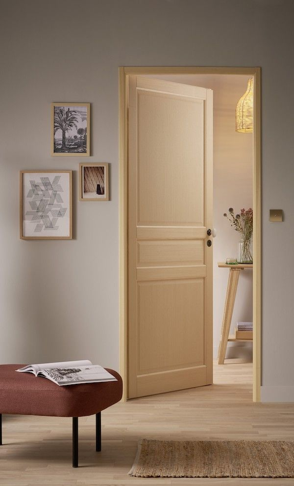 Bloc Porte Bois Exotique Plaque Classique Relooker Porte Interieur Couleur De Salle De Sejour Porte Interieur Design