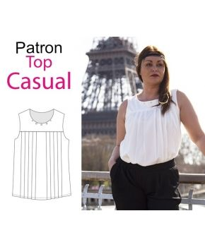 "Patron top ""Casual"" by Made in me couture"