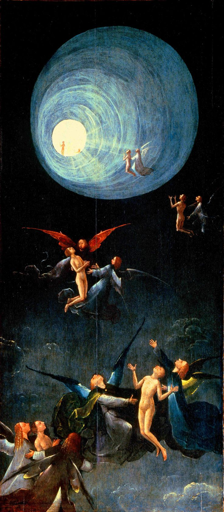 "nigra-lux: "" BOSCH, Hieronymus (circa 1450–1516) Ascent of the Blessed between circa 1490 and circa 1516 Oil on panel, 86.5 x 39.5 cm Palazzo Grimani, Venice Ed. Orig. """