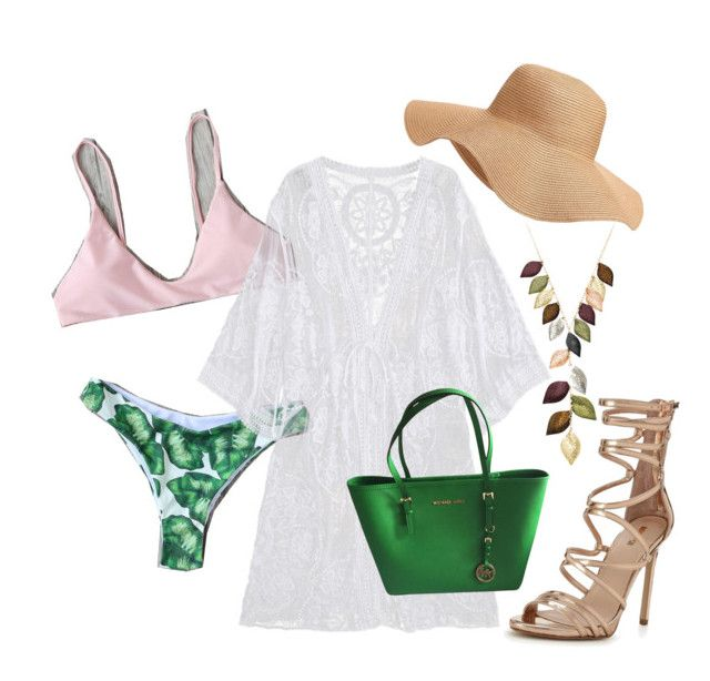 """""""Romwe"""" by cmariepotter on Polyvore featuring Old Navy, Carvela, Jacmel and MICHAEL Michael Kors"""