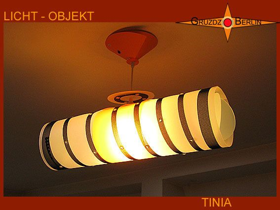Lamp TINIA lighting with canopy light object by GruzdzBerlin