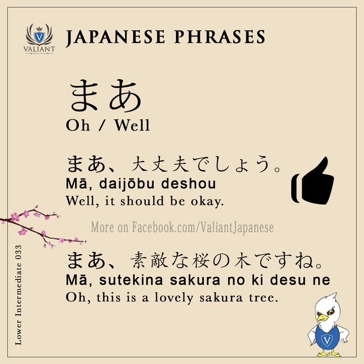 Valiant Japanese Language School < IG/FB - @ValiantJapanese > Japanese Phrases | Lower Intermediate 033