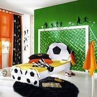Habitaciones tema fútbol - Dormitorios colores y estilos