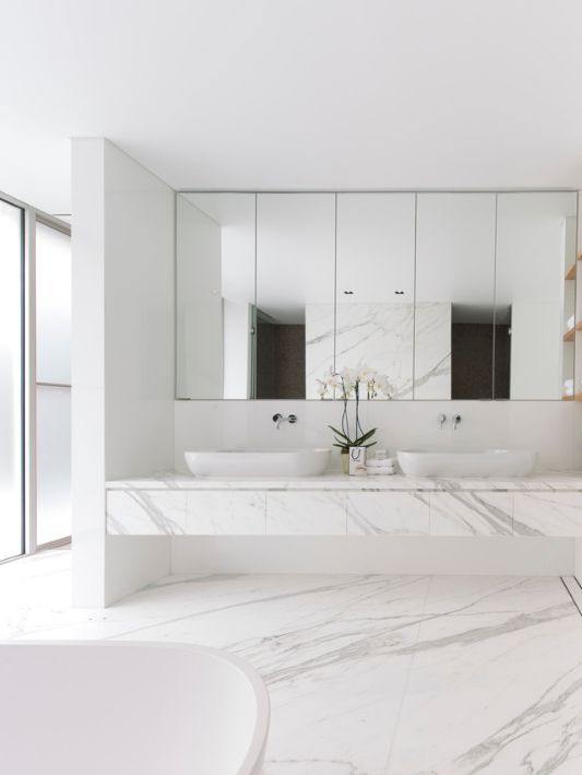 Good Bathroom Design Idea   5 Ideas For Adding Marble To Your Bathroom // Marble  Floor Tiles   Match The Flooring To Your Vanity. Gallery
