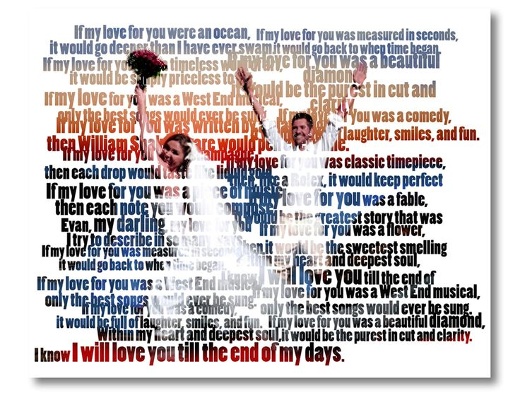 """Custom Word Art Text Custom Portrait From Your Photo Wedding With Personal Vow, """"Customized Photos From Your Wedding 01"""" #Canvas #Art using your #photos and #words. #Canvas #Wall #Decor #Personalized for you or your family using your #photos and words or #vow and #family #sign, great for a #wedding #gift, #engagement gift, #nurserydecor. #DigitalPrintStore on #Etsy"""
