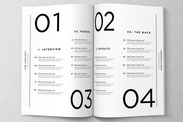 Københavner - Magazine Redesign on Editorial Design Served >  Inhaltsverzeichnis